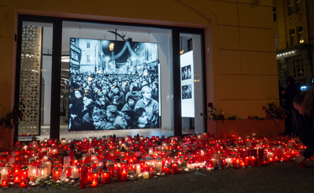 Commemoration of the Velvet Revolution in Prague (source: Shutterstock-btwcapture)